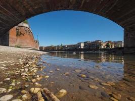 Castelvecchio-Brücke auch bekannt als Scaliger-Brücke in Verona foto