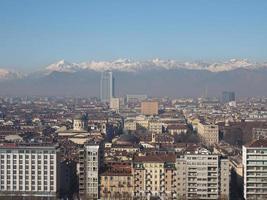 Luftaufnahme von Turin foto