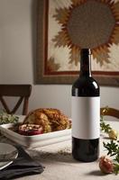 die Thanksgiving-Truthahn-Zusammensetzungstabelle foto