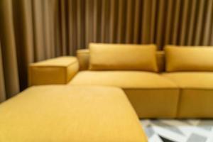 abstrakte Unschärfe modernes und luxuriöses Wohnzimmer für den Hintergrund foto