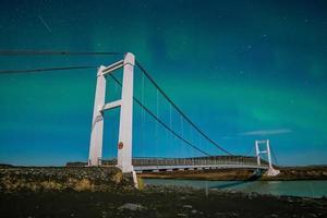 Island, Naturlandschaft bei Nacht foto