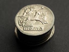 antike römische Münze foto