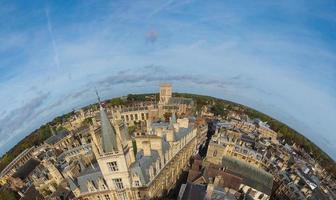 Luftaufnahme von Cambridge foto
