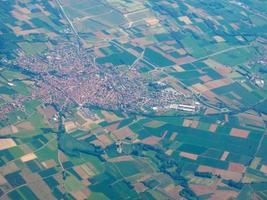 Luftaufnahme des Piemont foto