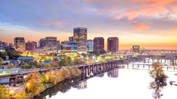 Innenstadt Richmond, Virginia Skyline foto
