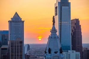 Stadtbild der Innenstadt Skyline Philadelphia in Pennsylvania foto