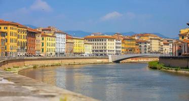 Pisa Stadt Innenstadt Skyline Stadtbild in Italien foto