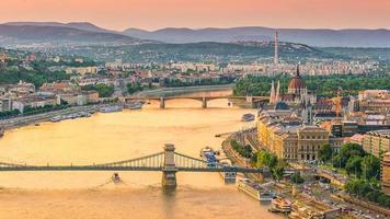 Budapester Skyline in Ungarn foto