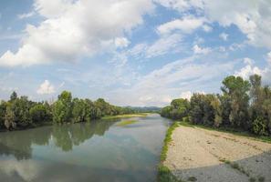 Fluss Po in Settimo Torinese foto