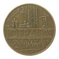10 Franken Münze, Frankreich foto