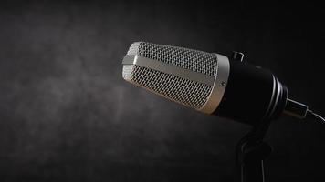 Mikrofon für Audioaufnahme oder Podcast-Konzept foto