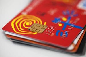 Kreditkarten Visa, Mastercard foto