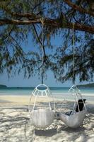 Saracen Bay Beach im tropischen Paradies Koh Rong Samloen Island in der Nähe von Siahnaoukville in Kambodscha foto