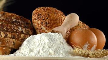 köstliche frische Mischung aus Brot-Food-Konzept foto
