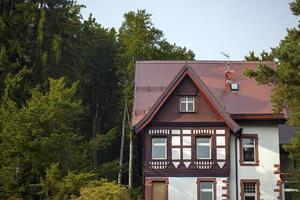 Vintage alte deutsche Architektur Bauernhaus foto