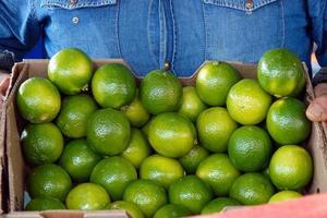 Bio-Gemüse Limette Zitrone foto