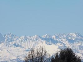 alpen bergkette foto