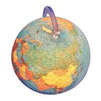 Globus isoliert über weiß foto