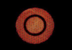 Infrarotstrahlungstechnologie auf Keramikmuster des Gasherdes foto