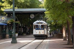 Downtown Vintage Trolley in Memphis Tennessee foto
