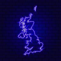England leuchtende Leuchtreklame auf Backsteinmauerhintergrund foto