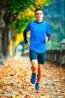 High-Level-Langläufer beim Training foto