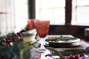 weihnachten neues jahr abendessen dekor foto