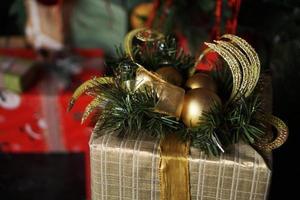 Weihnachtsgeschenke. Frohes Neues Jahr foto