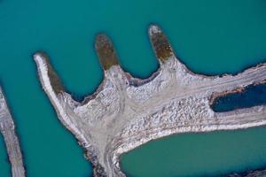 Luftbild der kleinen Insel foto