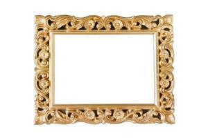 vergoldeter antiker Rahmen für ein Bild foto