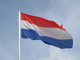 flagge von luxemburg foto