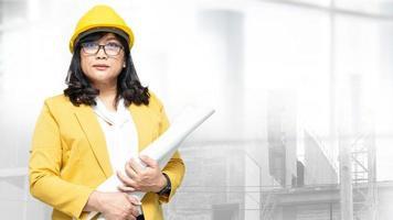 Architekt oder Ingenieur arbeiten Projektabrechnung foto