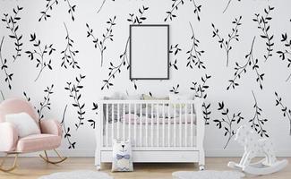 Kinderzimmer-Innenrahmenmodell foto