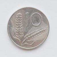 italienische Lira-Münze foto