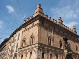 Blick auf die Altstadt von Bologna foto