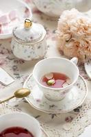 die elegante Teeparty-Komposition foto
