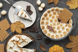 leckere Sitten Dessert Tisch Arrangement foto