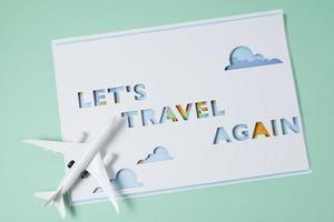 Das Reise-Wieder-Konzept-Sortiment foto