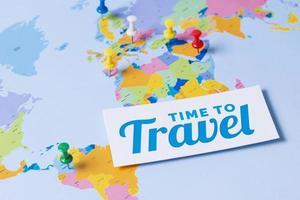das Reise-Wieder-Konzept-Arrangement foto