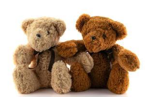 Teddybär isoliert auf weißem Hintergrund. foto