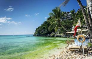 Diniwid Strandresorts in der berühmten tropischen exotischen Paradiesinsel Boracay Philippinen foto