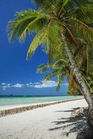 Exotischer tropischer leerer Strand an Station 2 im Paradies Boracay Island Philippinen foto