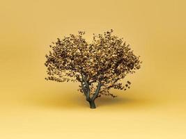 minimaler Herbstbaum auf weichem Hintergrund foto