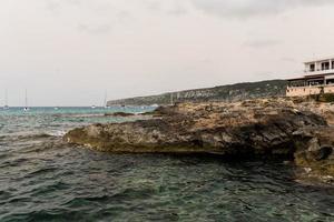 Fischerdorf es Calo de Sant Agusti auf der Insel Formentera foto