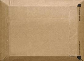 Paket aus Wellpappe foto
