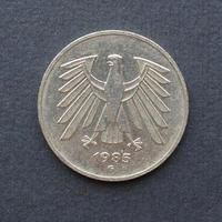 5 Mark Münze, Deutschland foto