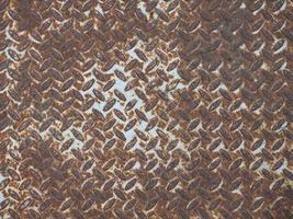 brauner rostiger Stahlbeschaffenheitshintergrund foto