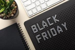 das Black Friday-Elementarrangement foto