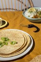 die indischen leckeren Roti-Arrangements foto