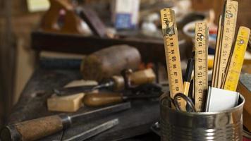 Zimmermann Werkzeugsammlung. Auflösung und hochwertiges schönes Foto